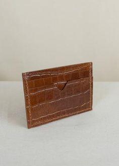 Sorént Oslo | Croc Cardholder Cognac | Women's Accessories Oslo, Italian Leather, Hand Stitching, Crocodile, Crocs, Women's Accessories, Card Holder, Wallet, Crocodiles
