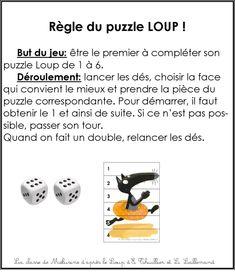 Image règle du jeu puzzle Loup 1 à 6