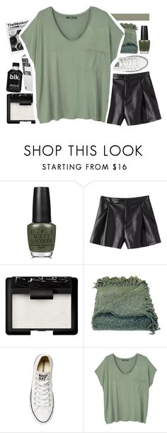 """she got that rich girl la vibe"" by midnight-shimmer ❤ liked on Polyvore featuring OPI, NARS Cosmetics, Woven Workz, Converse, MANGO and LilliansBtsOutfitIdeas"