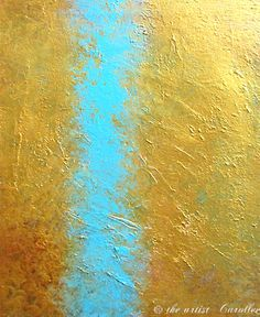 © 2015 All rights reserved Carol Lee Art Studio  Title: THE ETHEREAL ll  Canvas size 40 x 30 x 1 3/8 or 1.5 sides   This is my large signature golden