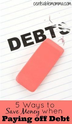 Are you trying to pay off debt?  Try these 5 ways to save some money when you're in the midst of paying off debt.
