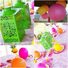 Luau themed birthday party