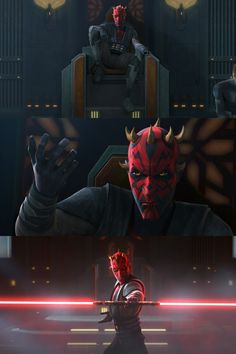 Darth Maul: Top Quotes - Star Wars Clones - Ideas of Star Wars Clones - Darth Maul stills from Season 7 Episode Darth Maul on a throne lookin badass. Darth Maul Clone Wars, Star Wars Boba Fett, Darth Vader, Star Wars Clone Wars, Lego Star Wars, Star Trek, Star Wars Wallpaper, Darth Maul Wallpaper, Star Wars Pictures