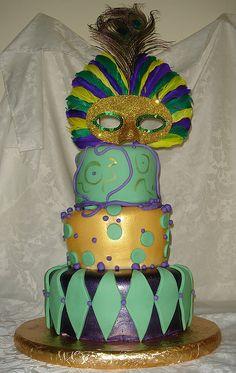 Mardis Gras Cake