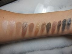 Swatches from the original naked palette.