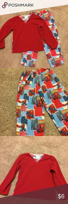 Handmade Spider-Man PJs Fits like a size 8. Very soft and warm, handmade Spider-Man pajamas! handmade Pajamas Pajama Sets