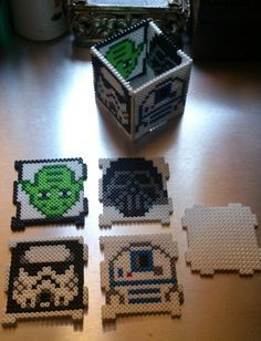 Star Wars pencil cup box hama perler beads by Sonja Ahacarne
