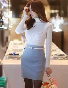 work korean fashion which is awesome.. 914731 #workkoreanfashion Look Fashion, Girl Fashion, Fashion Dresses, Womens Fashion, Fashion Tips, Cheap Fashion, Fashion Styles, Fashion Ideas, Korean Fashion Trends