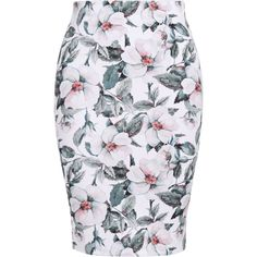 Plus Size Floral Pencil Skirt ($19) ❤ liked on Polyvore featuring skirts, flower print pencil skirt, floral printed skirt, colorful pencil skirt, knee length pencil skirt and multicolor skirt