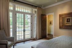 Love the Marvin French Doors in the bedroom.  But this time of year they can let in a lot of cold air.  Let's make sure that doesn't happen.  Contact us for your FREE Quote.  https://www.nextdoorandwindow.com/    #nextdoorandwindow #marvin #window #patiodoor #frenchdoors #replacmentwindow #replacementdoor #luxuryhome #dreamhome #bedroomwindow