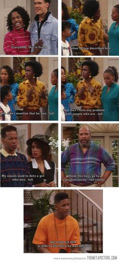 "Ah, Fresh Prince. How I miss you. ""She didn't mention he was so... tall"""
