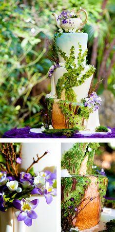 Amazing 2D & 3D landscape cake ♥