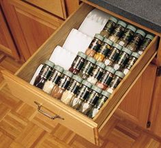 Wide Trimmable Spice Drawer Insert