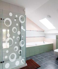 Aros vidrio - Vinilo Adhesivo para vidrio, decoración de ventanas, decoración de baños. $58.900 COP. Encuentra más vinilos adhesivos en www.giferent.com/vinilos-decorativos-adhesivos