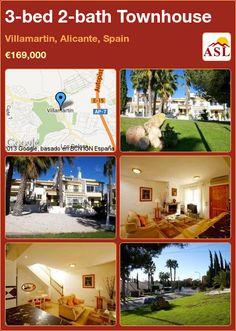 3-bed 2-bath Townhouse in Villamartin, Alicante, Spain ►€169,000 #PropertyForSaleInSpain