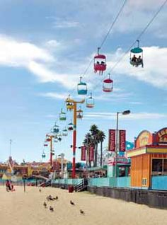 The Santa Cruz Beach Boardwalk is the oldest surviving theme park in America. It's also home to the Giant Dipper, the sixth oldest roller coaster in the country.