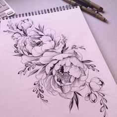 Image result for peony tattoo red