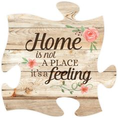 "Home is not a place it's a feeling - Measures 12"" x 12"" square - all puzzle…"