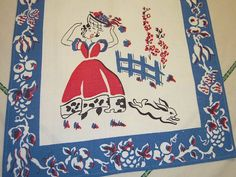 .vintage tea towel