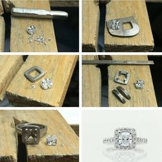 From the workshop, creating a cushion cut diamond engagement ring. #harlequinjewellers #engagementring #workshop