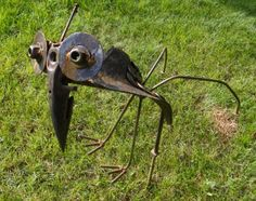 Recycled Metal Yard Art Clyde by PleasantNookRanch on Etsy, $50.00