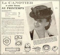 le petit écho de la mode (1940) canotier print by pilllpat (agence eureka), via Flickr