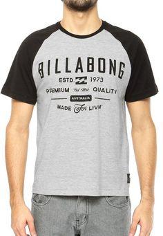 Camiseta Billabong Cinza - Compre Agora  2ebb6ab0ce2