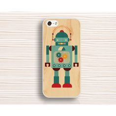 iphone 6 plus case,iphone 6 case,robor IPhone 5s,wood and robot,IPhone 5c case,robot IPhone 5,IPhone 4 case,IPhone 4s case - IPhone Case