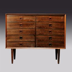 rosewood/palisander chest of drawers, unknown designer   (I want it so bad! it matches one I already have)