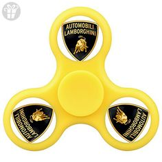 ELA DIA Tri-Hands Fidget Spinner Toy, Perfect for ADHD EDC ADD, Controlling Force, Fashion Design and Images(Lamborghini Logo - Yellow) - Fidget spinner (*Amazon Partner-Link)
