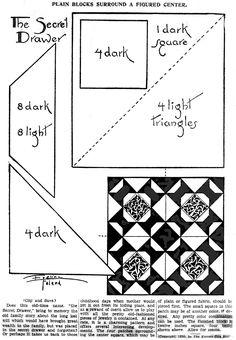 The Secret Drawer Eveline Foland Quilt Pattern