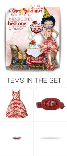"""Cake For Cake"" by mrsgena ❤ liked on Polyvore featuring art, birthday, polyvoreeditorial, dilkabear and ultracake"