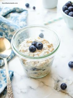 Blueberry Chia Overnight Oats