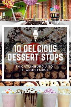 10 Delicious Stops for Desserts in Gatlinburg and Pigeon Forge Gatlinburg Vacation, Tennessee Vacation, Gatlinburg Tn, Vacation Trips, Vacation Ideas, Gatlinburg Tennessee Restaurants, Family Vacations, Vacation Spots, Smoky Mountains Tennessee