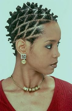 (Zulu knots) Brilliant line Confixor  -desired clean sections of hair, thumb and pointer finger close to scalp, twist hair tightly to the right to the ends . Back comb then twist hair at the scalp into a knot.