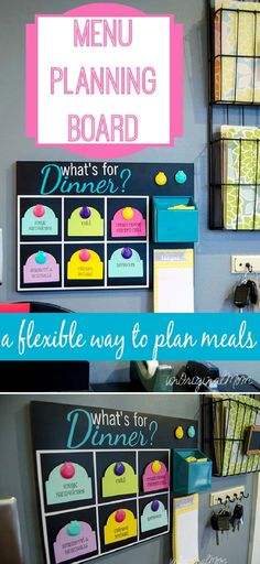 Create a Menu Planning Board for Everyone to See What's for Dinner - 16 DIY Kitchen Projects to Organize Your Healthy Foods