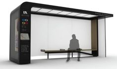 Specially created for the city of Lexington Kentucky the Bus Shelter System and City Furniture Concept by designer Mike McKay is a new modular design that makes waiting for buses more pleasurable. City Furniture, Urban Furniture, Street Furniture, Urban Design, Modern Design, Bus Stop Design, Bus Shelters, Shelter Design, Bus Station