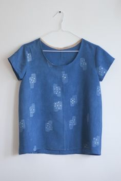 scout tee by erin gilkes. resist dyed in indigo.