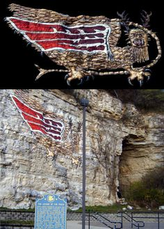 Marquette's Piasa, history, legend and mythology.