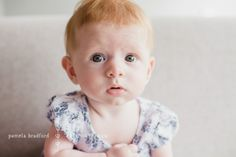 This little one poses for portraits at home in Point Cook, Vic.