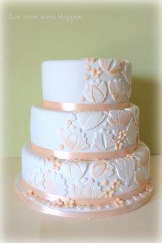"""Képtalálat a következőre: """"barack színű esküvői torta"""" Cakes, Weddings, Baking, Desserts, Food, Tailgate Desserts, Scan Bran Cake, Patisserie, Kuchen"""