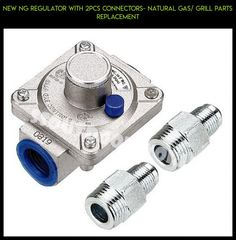 NEW NG REGULATOR WITH 2PCS CONNECTORS- NATURAL GAS/ GRILL PARTS REPLACEMENT #gadgets #products #fpv #shopping #drone #parts #technology #kit #plans #tech #camera #ng #grills #racing