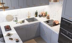 pink + grey decor - Style It Up Kitchen Dinning Room, Kitchen Room Design, Interior Design Living Room, Living Room Designs, Kitchen Decor, Living Rooms, Kitchen Countertops, Kitchen Cabinets, Decoration Gris
