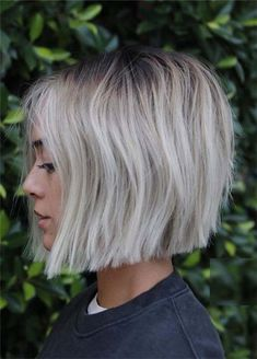 50 Top Trend Short Bob Hairstyles - Short bob hairstyles are also among the trend . - 50 Top Trend Short Bob Hairstyles – Short bob hairstyles are also one of the trendiest hairstyles - Blunt Bob Haircuts, Choppy Bob Hairstyles, Down Hairstyles, Short Blunt Haircut, Blonde Blunt Bob, Dark Roots Blonde Hair Short, Short Blunt Bob, Prom Hairstyles, Short White Hair