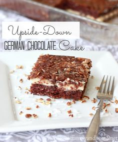 Love Of Family & Home: Upside-Down German Chocolate Cake