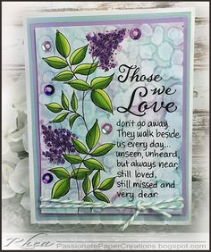 Passionate Paper Creations: Those Who Love - Stampendous image