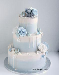 Pretty Wedding Cakes, Beautiful Birthday Cakes, Wedding Cakes With Flowers, Gorgeous Cakes, Wedding Cake Designs, Amazing Cakes, Fondant Cakes, Cupcake Cakes, Cupcakes
