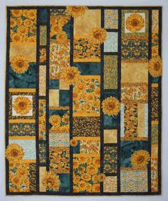 1000 Images About Sunflower Quilts On Pinterest