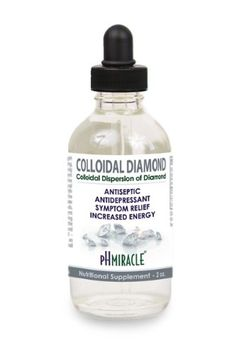 Liquid Colloidal Diamond Drops - A Stimulating, Invigorating and Clarifying, Antiseptic, Antidepressant Colloidal - 2 oz By pH Miracle®, Dr. Robert O Young http://www.amazon.com/dp/B00CTLK6V6/ref=cm_sw_r_tw_dp_qMHGsb0PEVY36