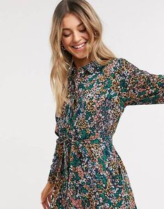 Shop the latest JDY midi shirt dress in floral print trends with ASOS! Midi Shirt Dress, Dresses With Sleeves, Dresses Dresses, Flapper Dresses, Fashion Prints, Fashion Online, Latest Trends, Asos, Floral Prints